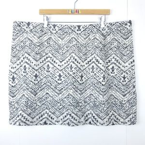 Maurices Stretch Knit Sparkle Tribal Sweater Skirt